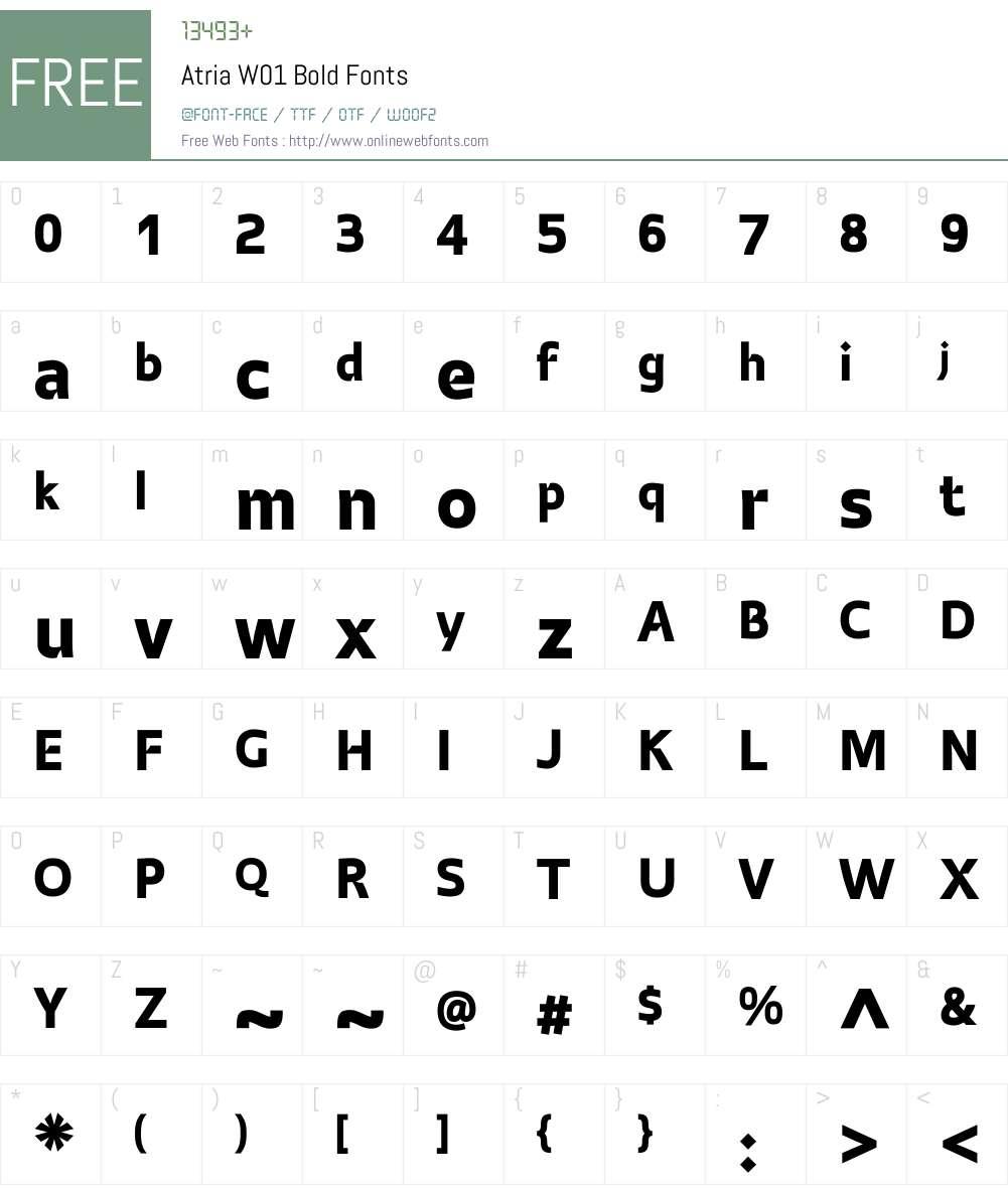AtriaW01-Bold Font Screenshots