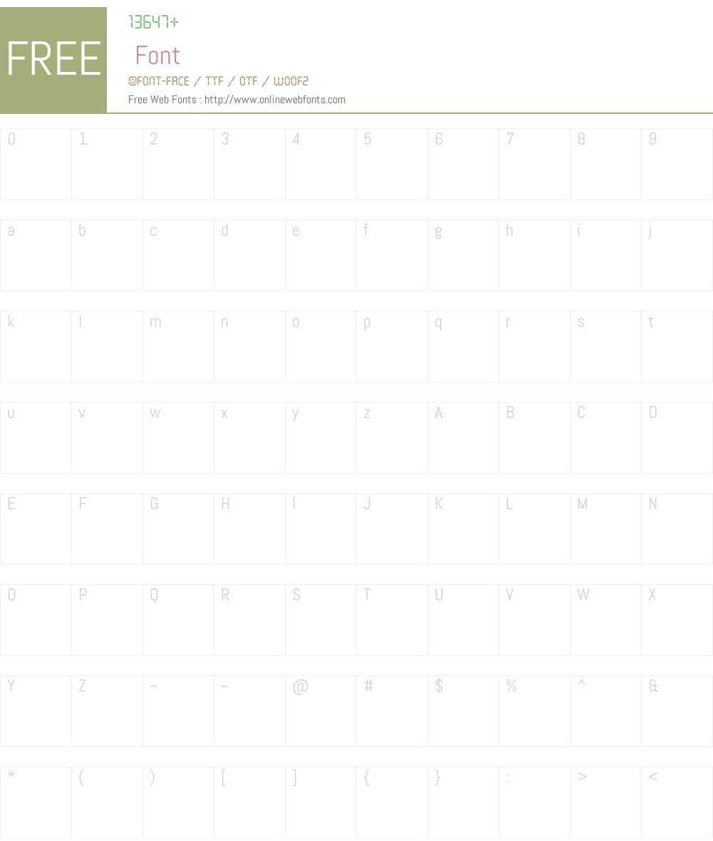 Asterisp Iota Font Screenshots