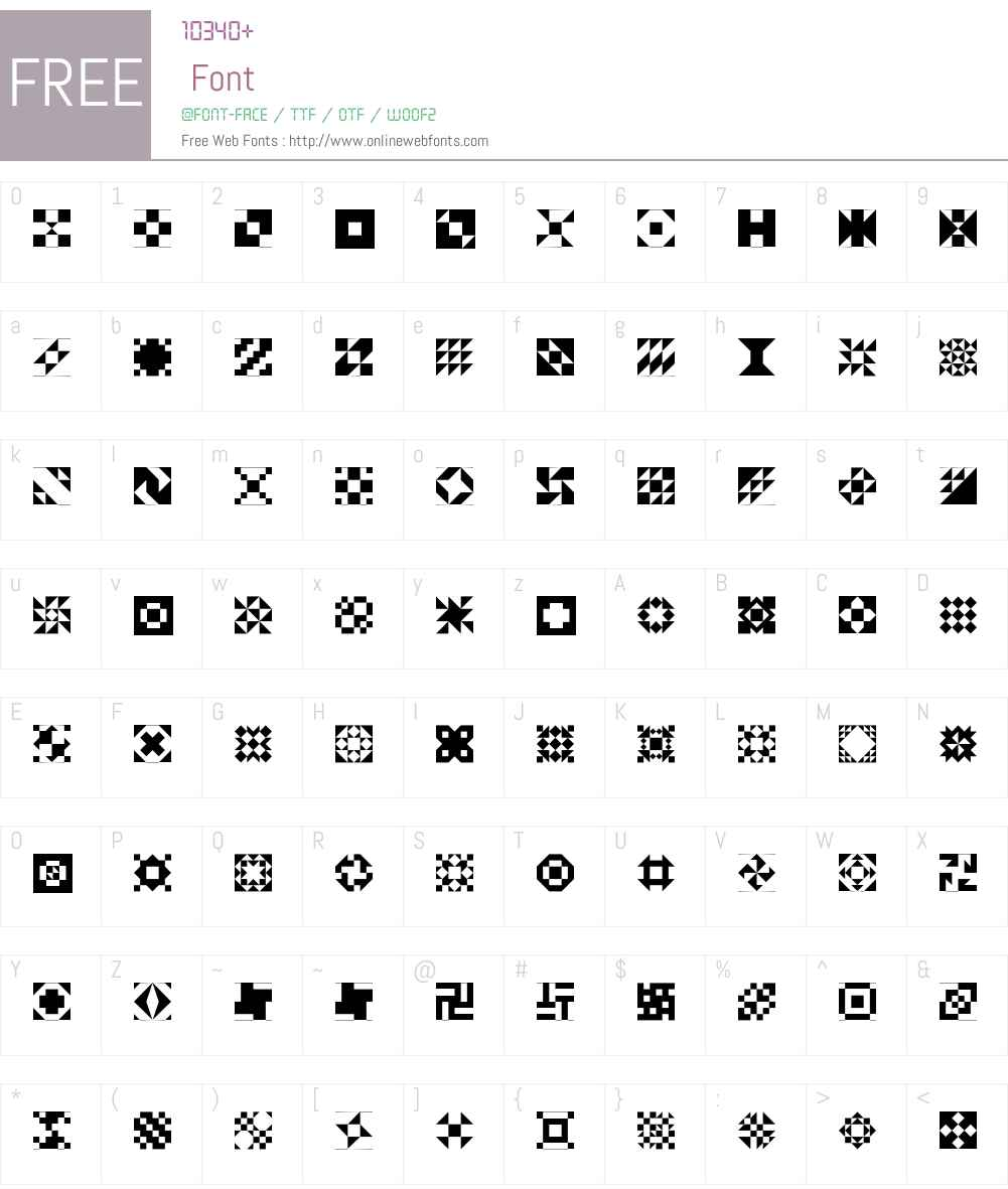 Quilt Patterns One Font Screenshots