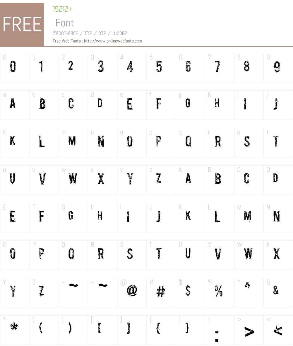 Palsu Font Screenshots