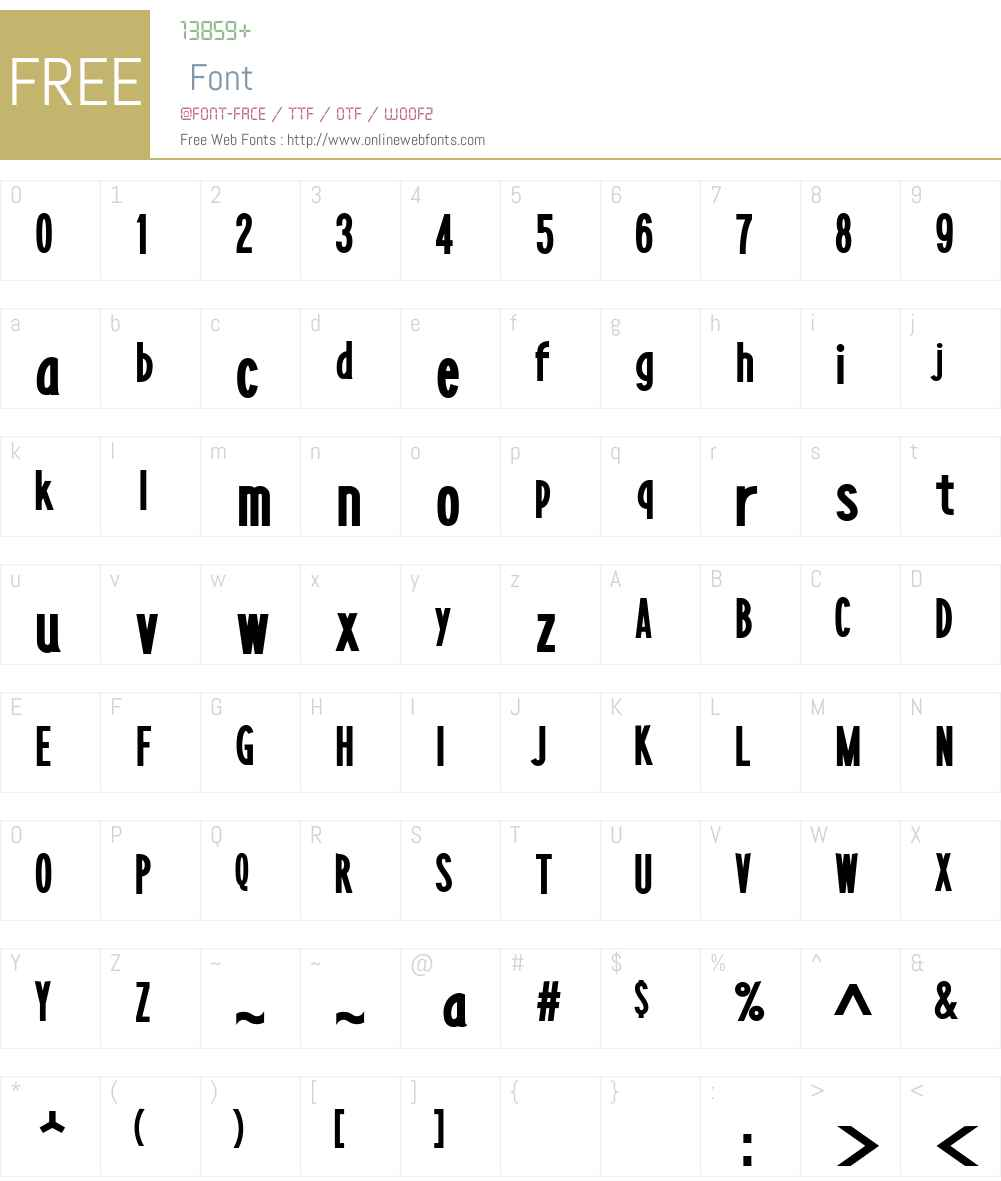 LayerfaceSolid Font Screenshots