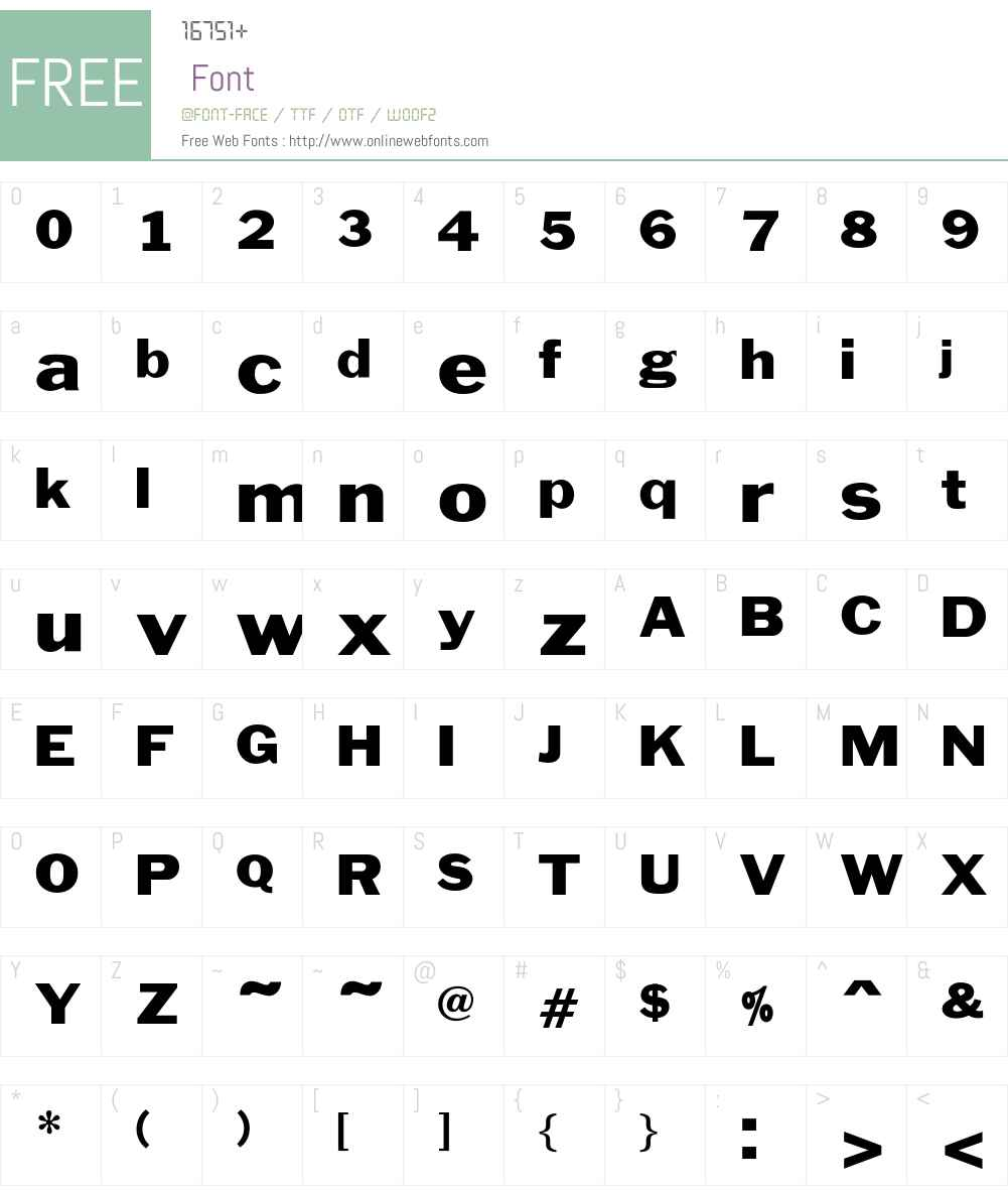 BenjaminGothicWide Font Screenshots
