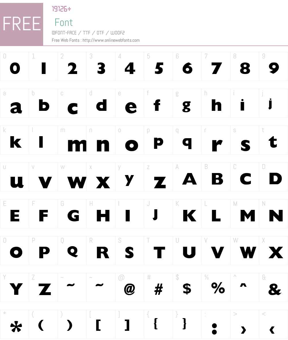 Giligan ExtraBold Font Screenshots