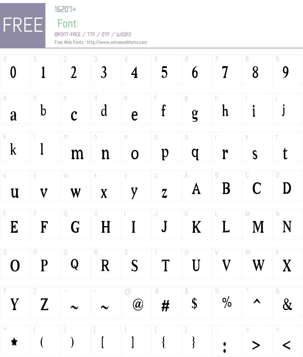 Niew CroMagnon Narrow Font Screenshots