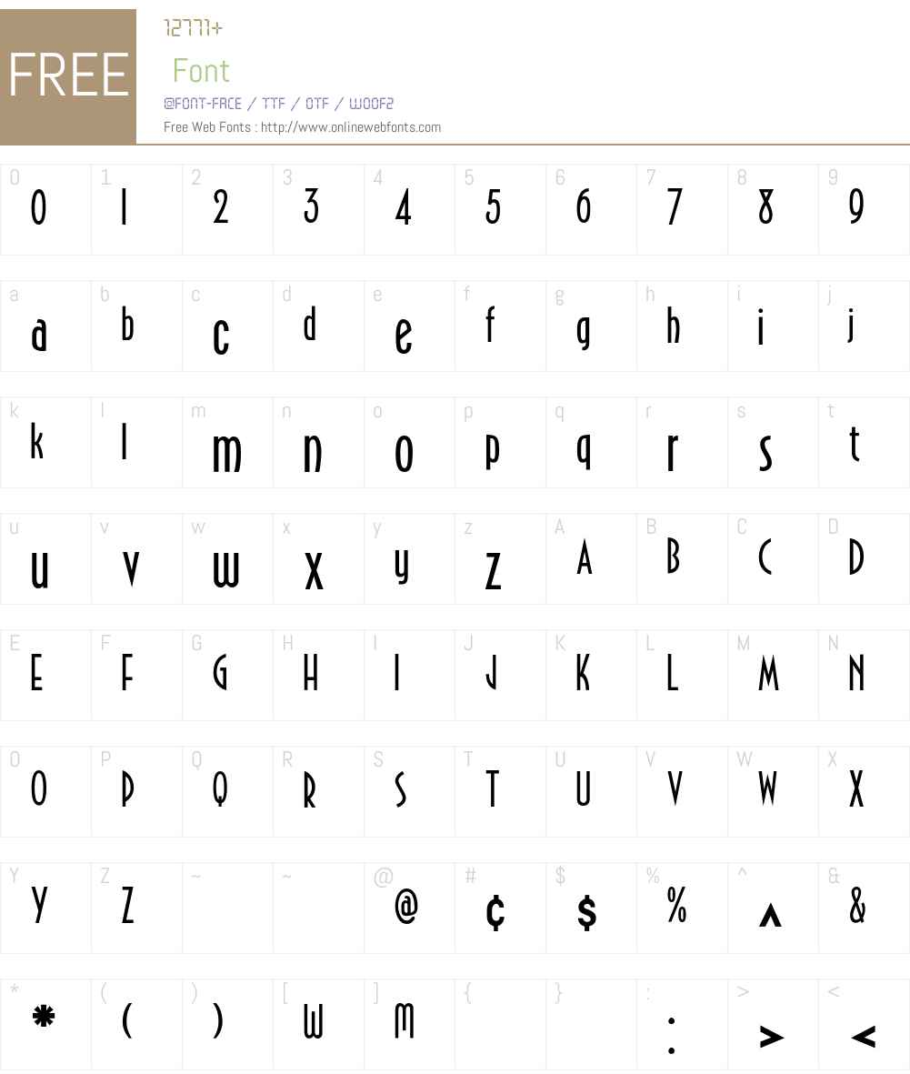 Emporium Font Screenshots