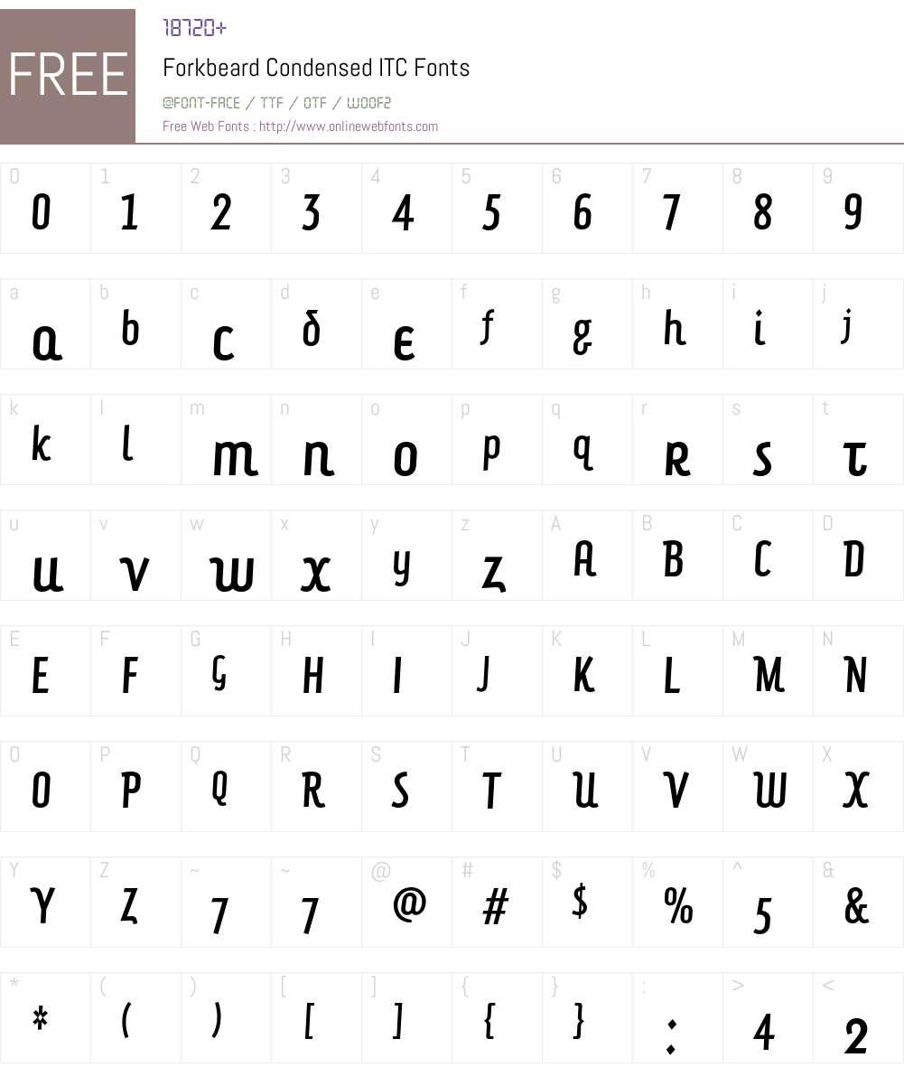 Forkbeard Condensed ITC Font Screenshots