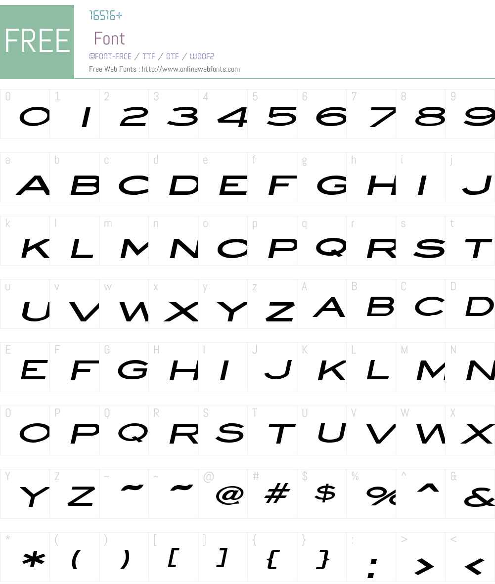 Eye glass Extended Font Screenshots