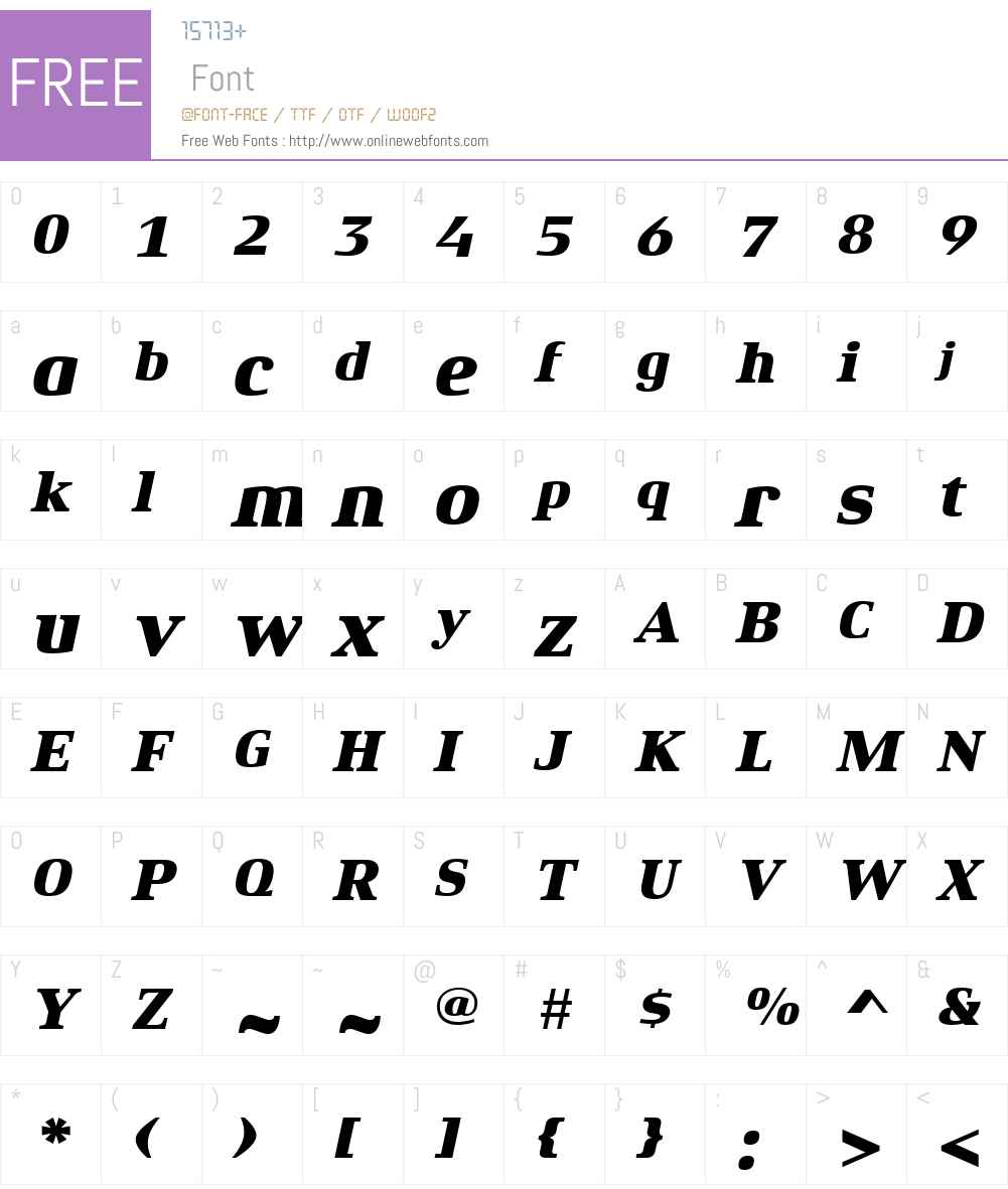 Xenois Serif Font Screenshots