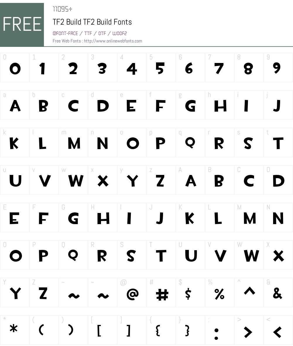 Tf2 Build Font