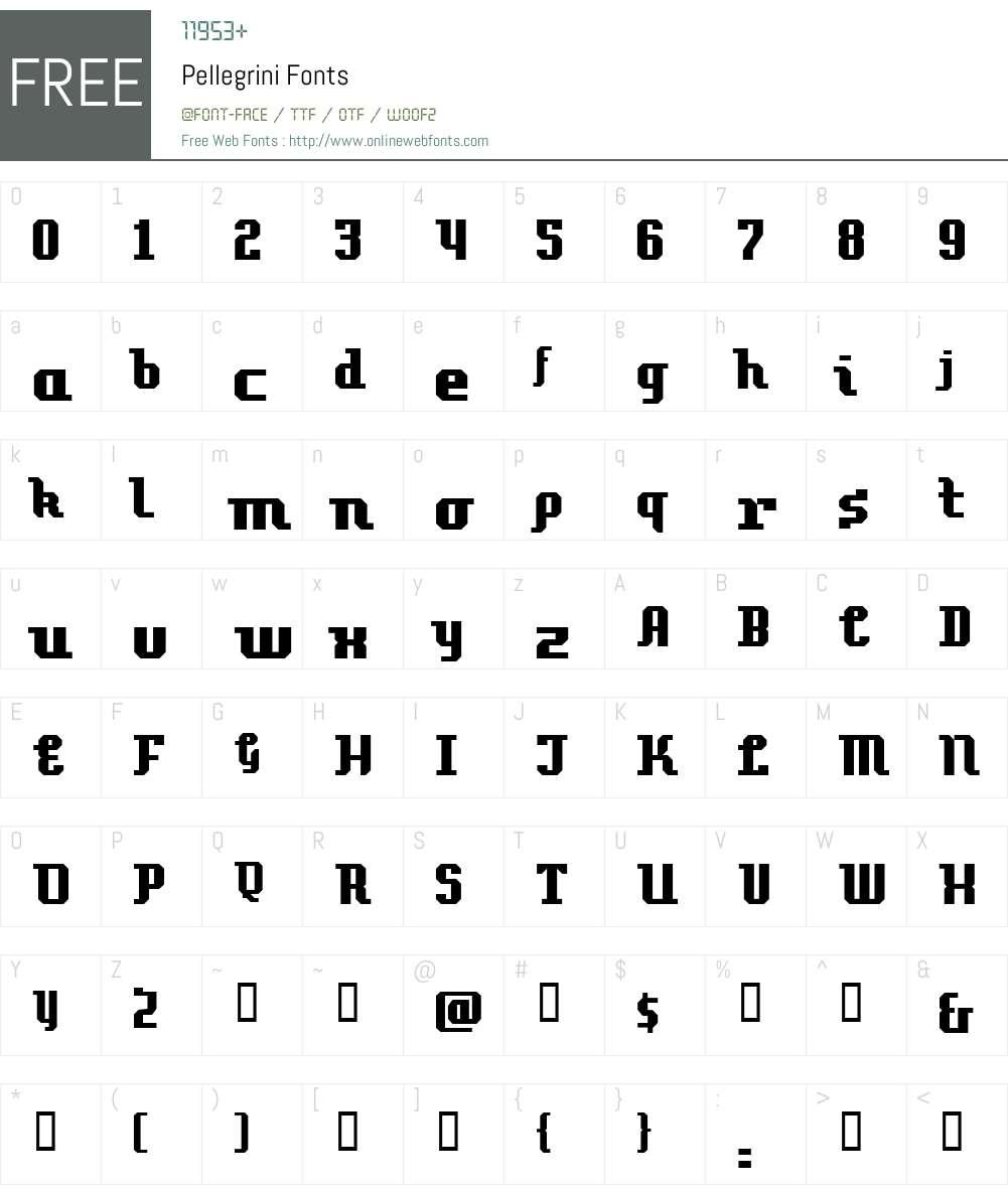 Pellegrini Font Screenshots
