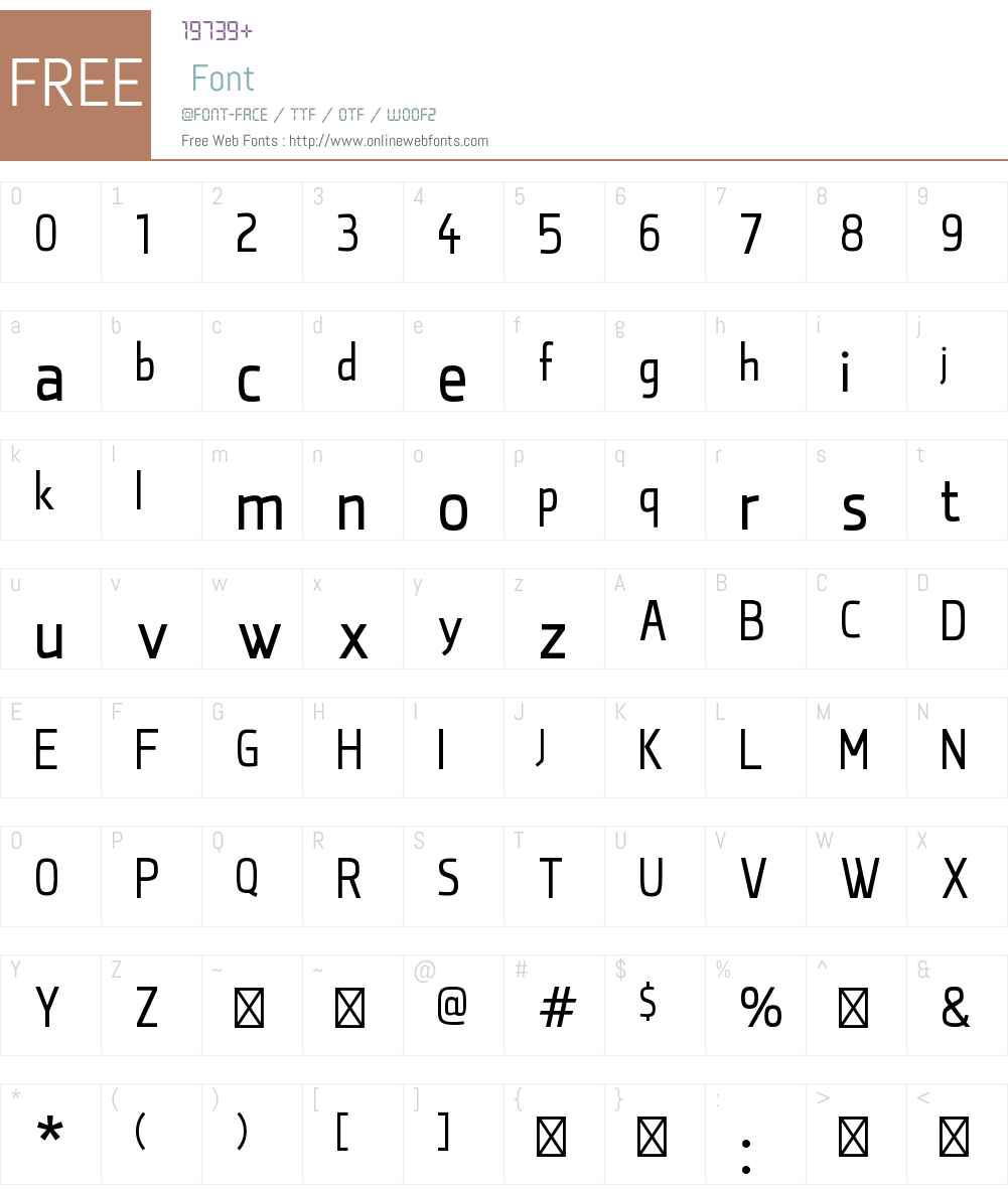 qontra Font Screenshots