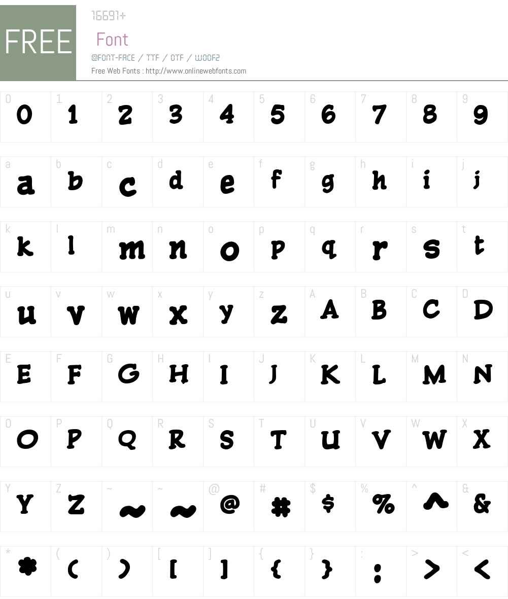 CCPulpFiction-Heavy Font Screenshots