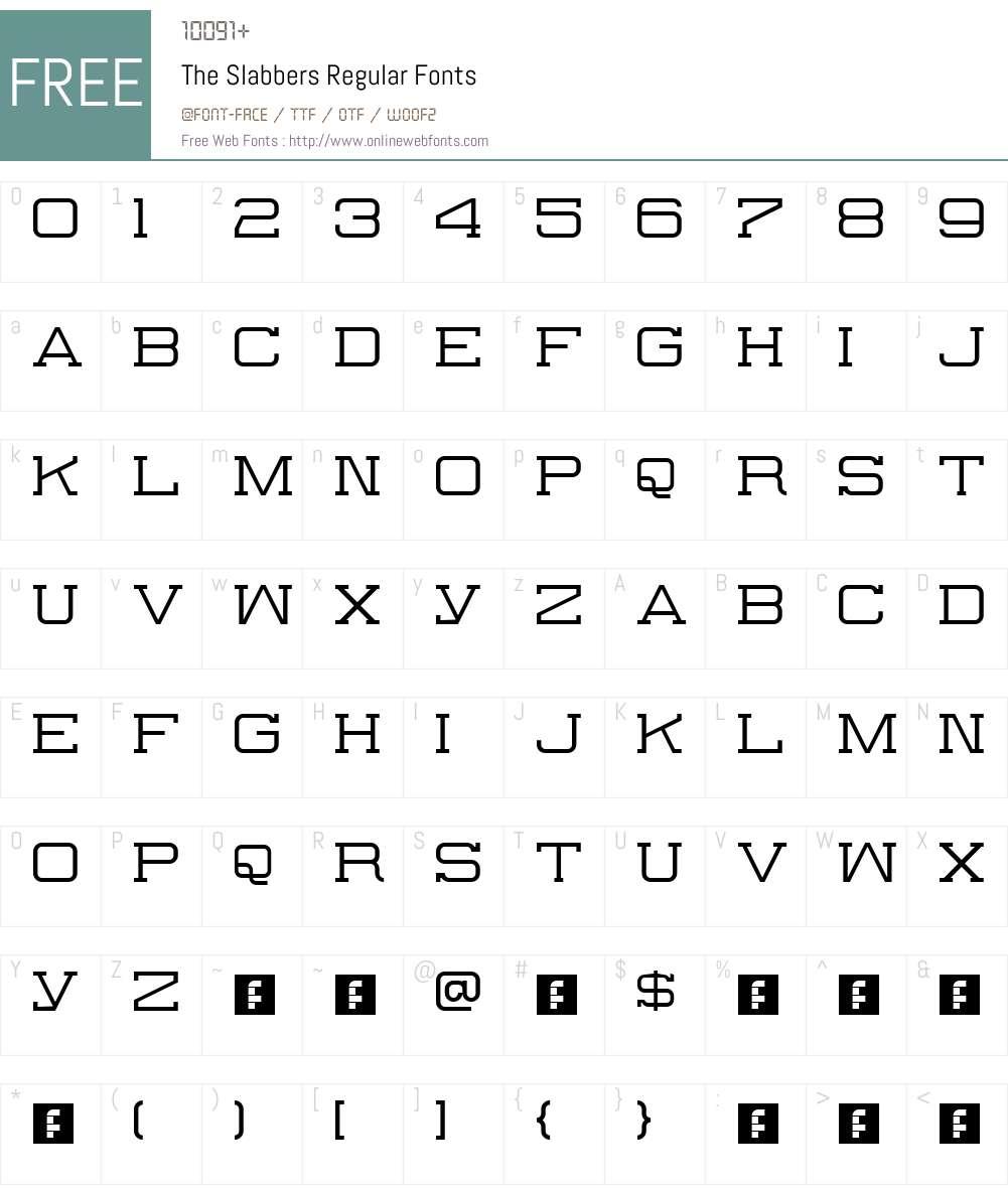 The Slabbers Font Screenshots