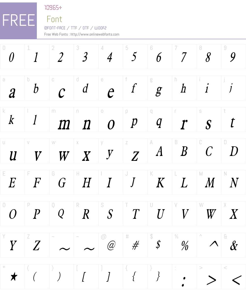 Nadine Thin Font Screenshots