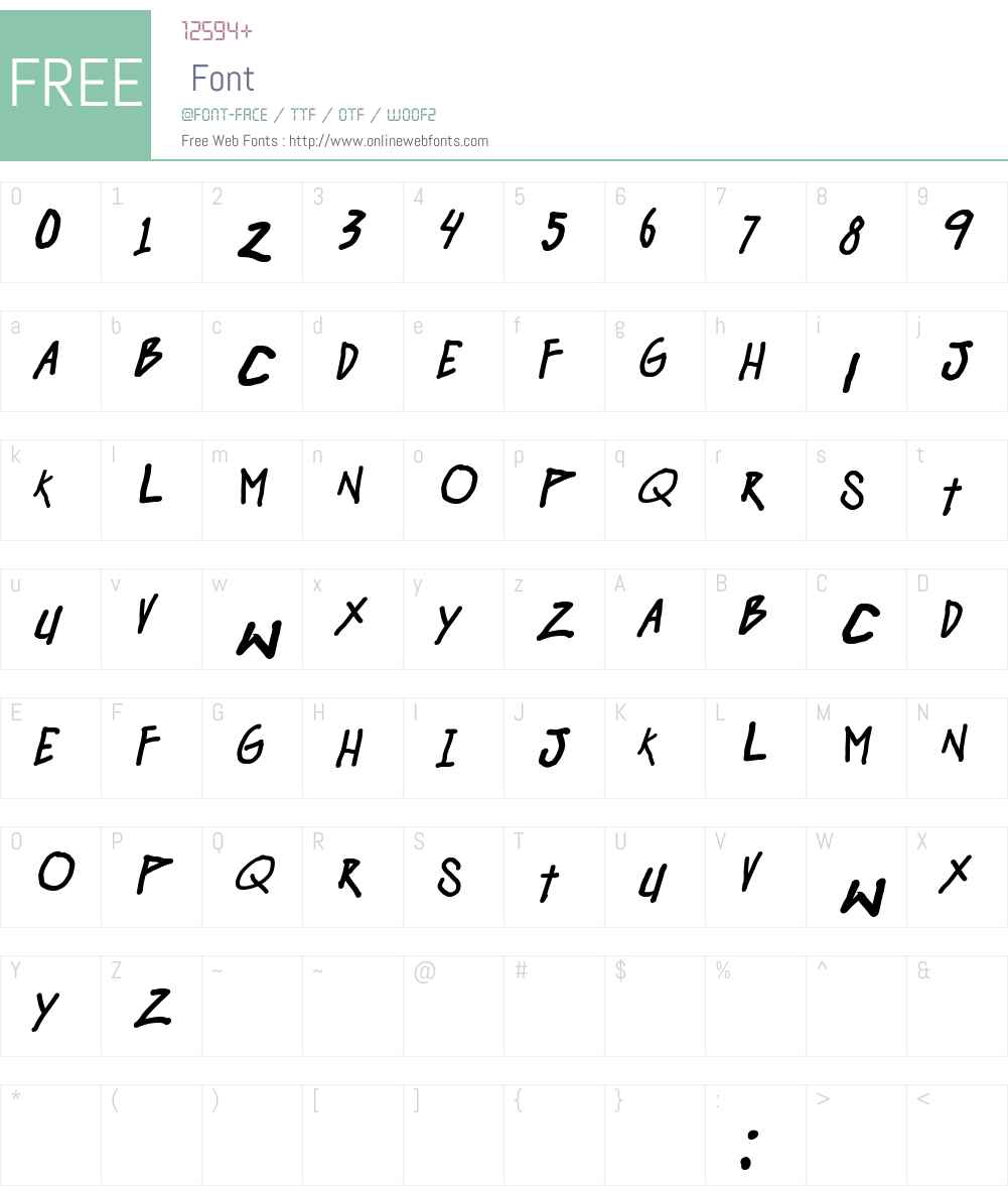 Hangover Monday Font Screenshots