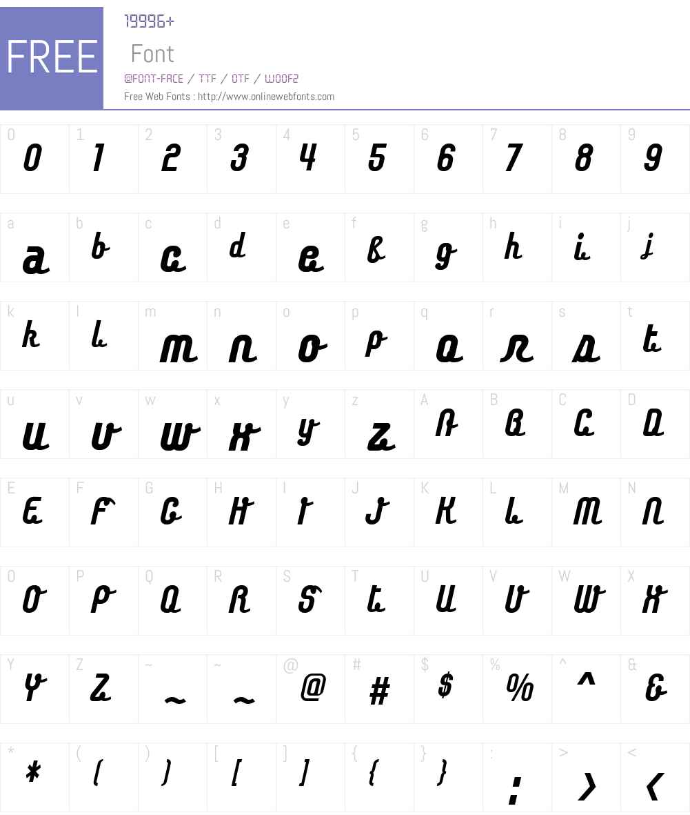 Chaingothic Font Screenshots