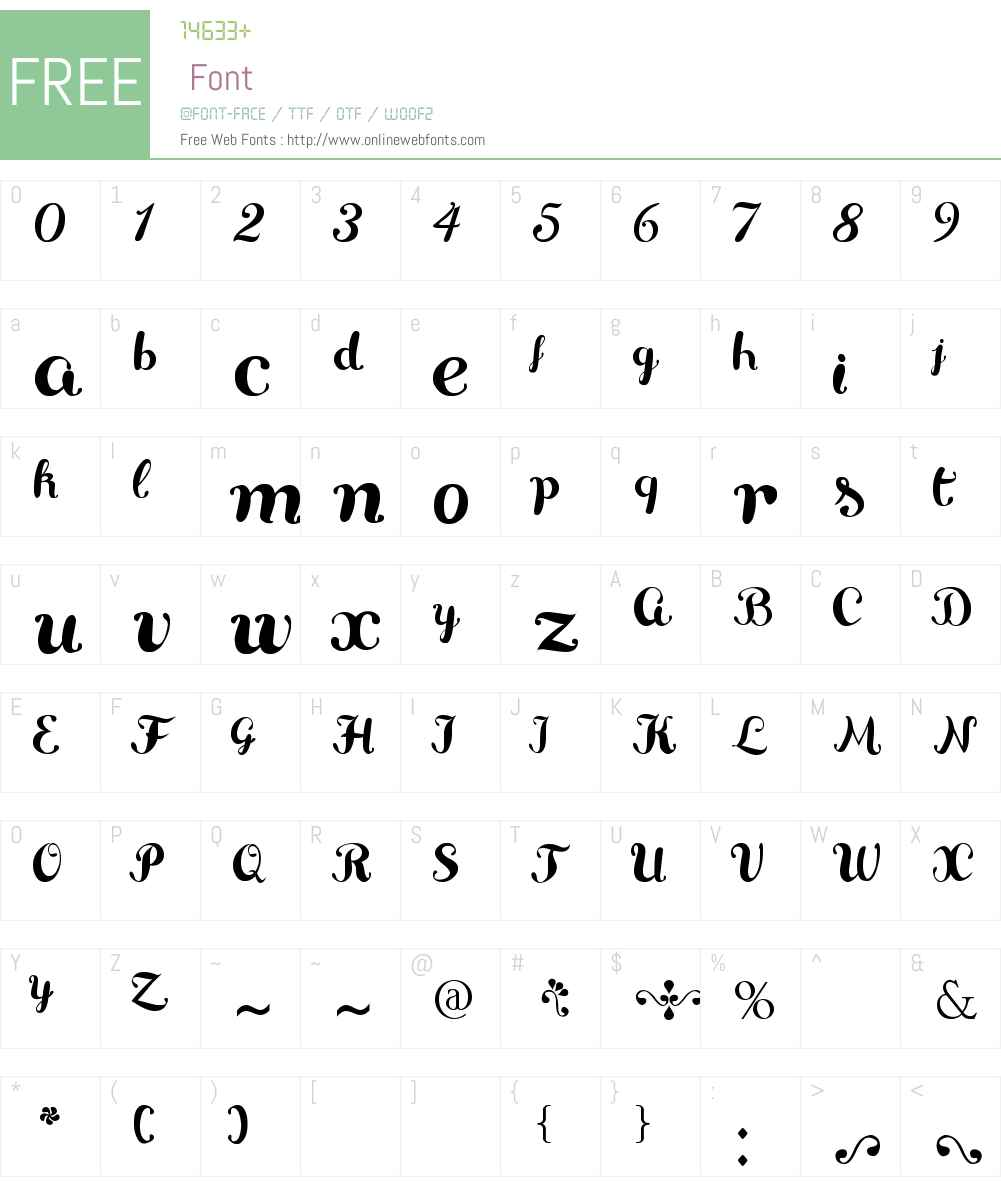 Delikatessen Font Screenshots