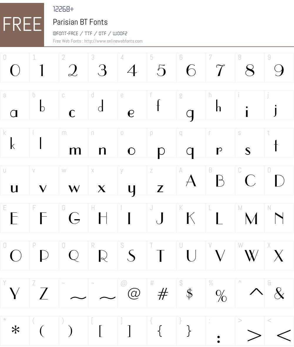 Parisian Font Screenshots