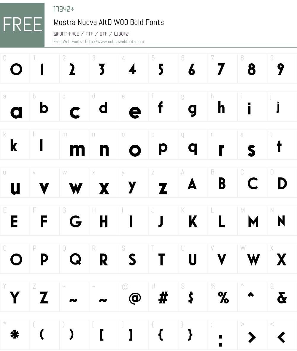 Mostra Nuova Font Screenshots