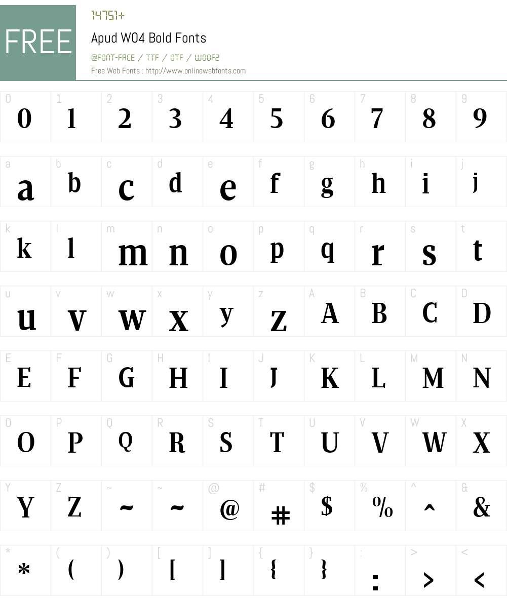 Apud Font Screenshots