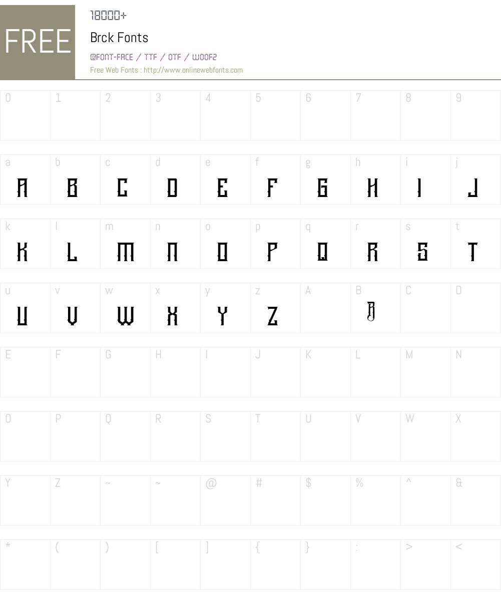 Brck Font Screenshots
