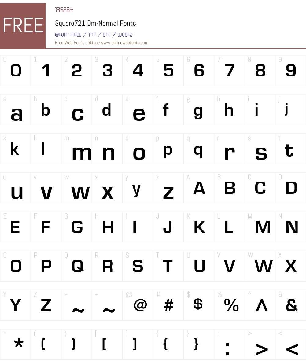 Square721 Dm Font Screenshots