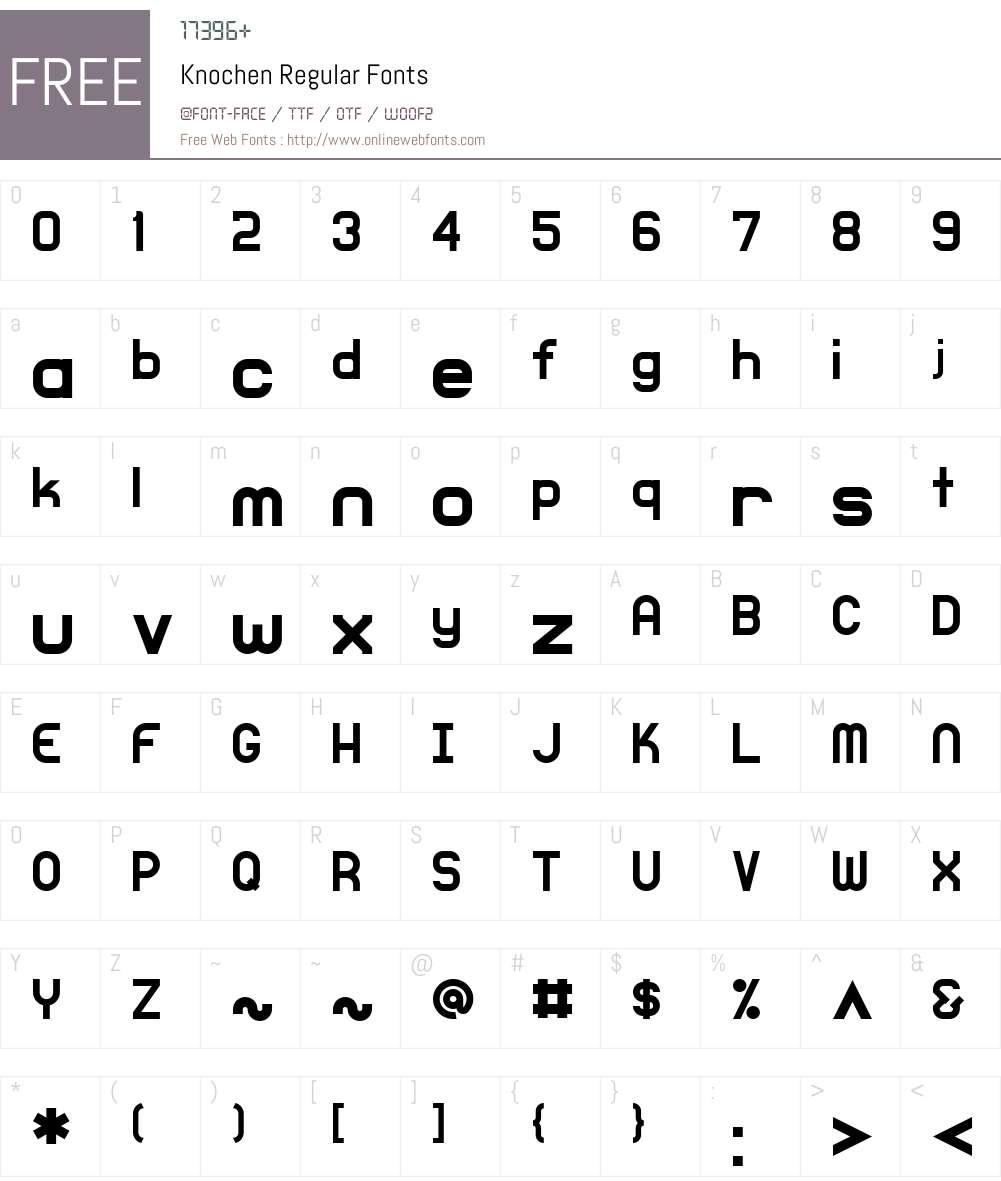Knochen Font Screenshots