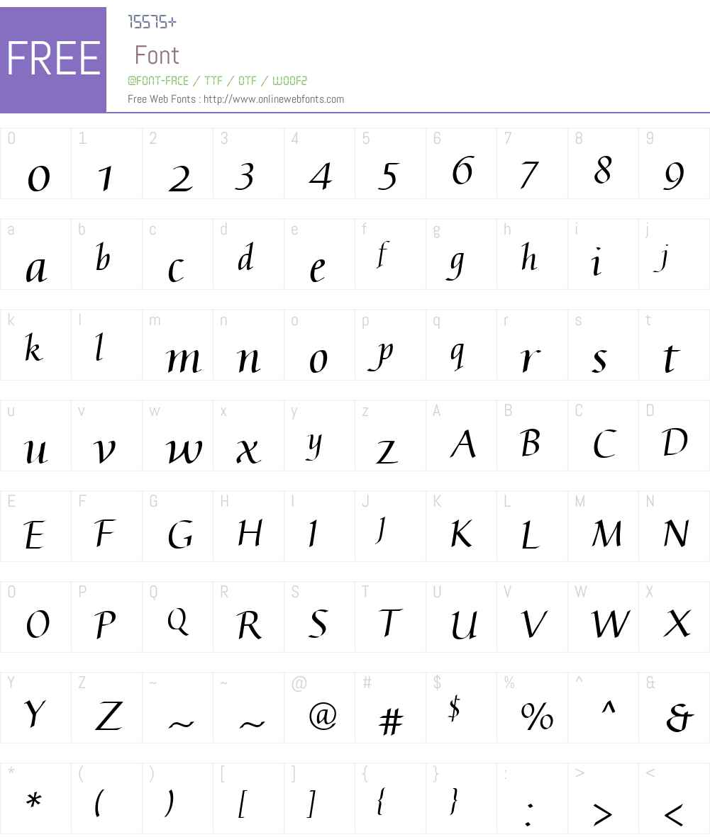 AugustaW01 Font Screenshots