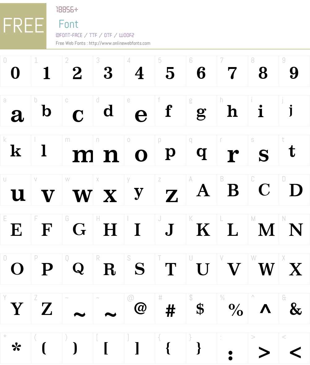 ImpressumW01-Bold Font Screenshots