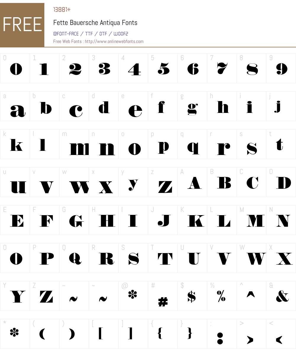 Fette Bauersche Antiqua Font Screenshots