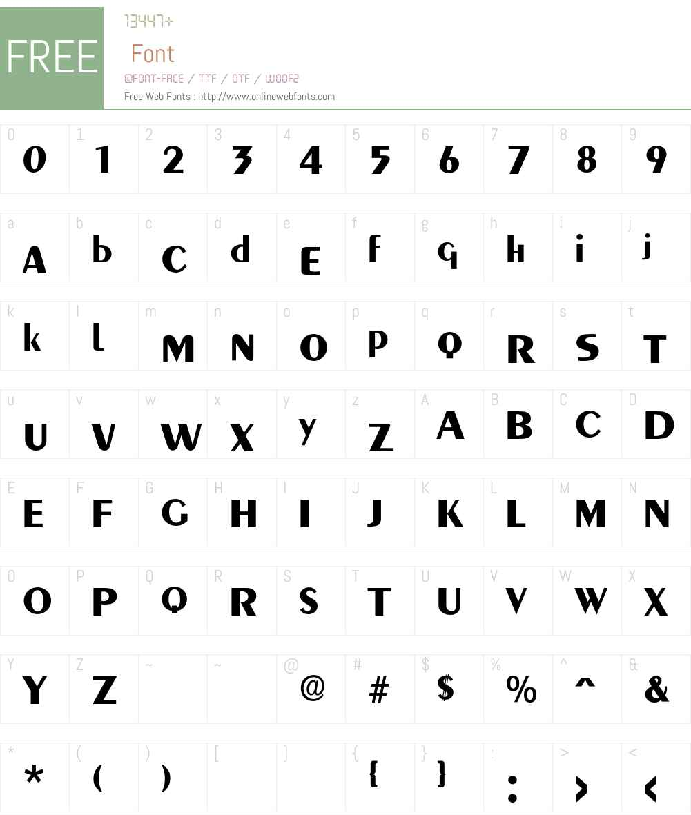 Aquavit Font Screenshots