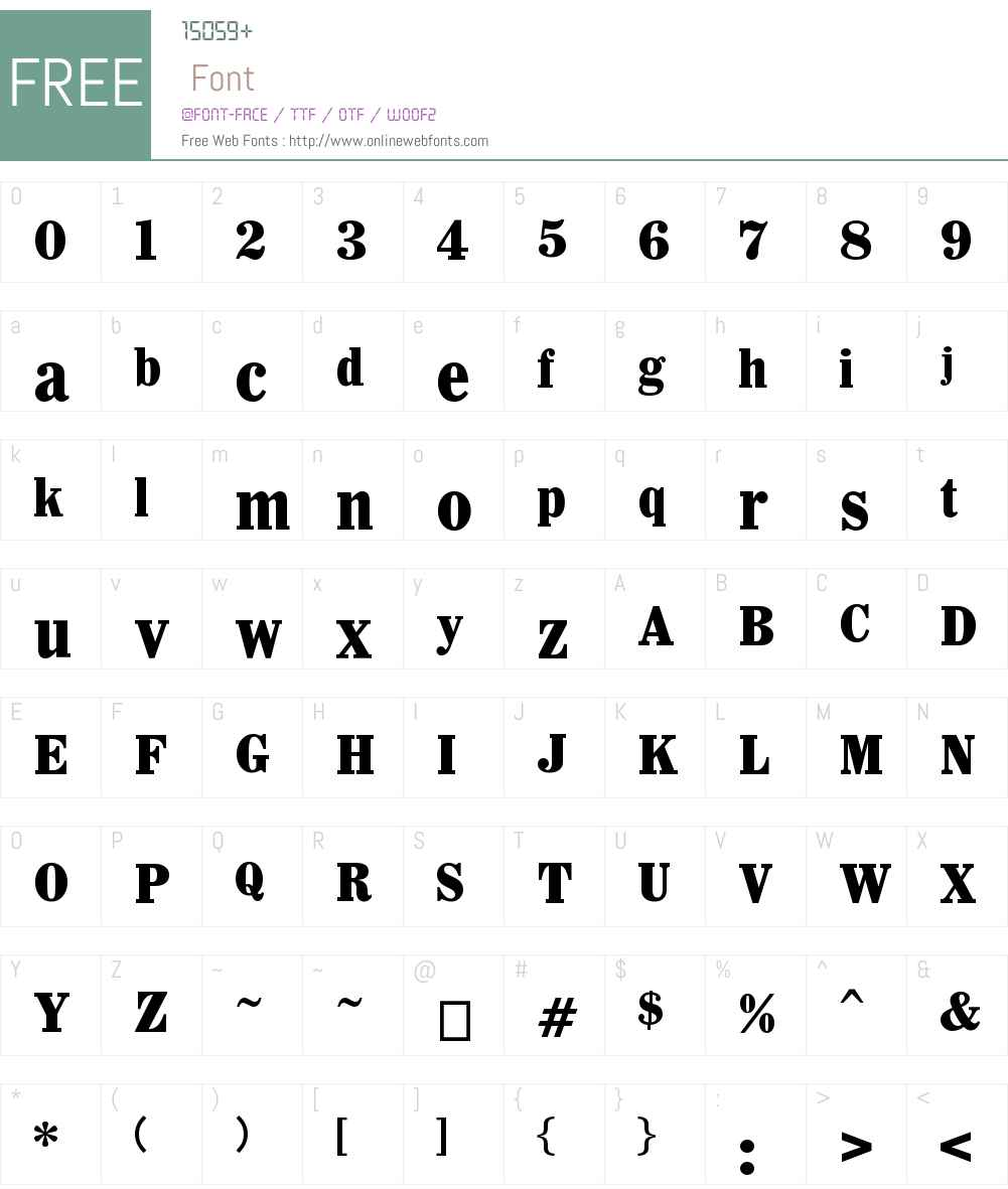 Whitin Font Screenshots