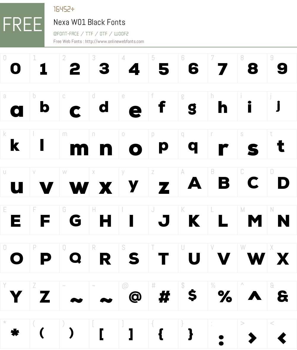 NexaW01-Black Font Screenshots