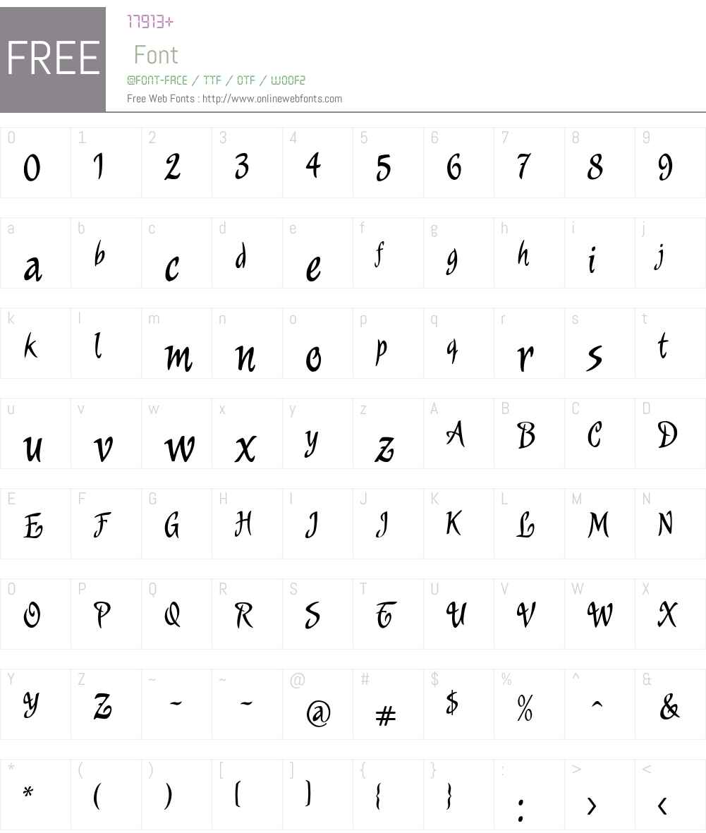 MurgaW00-Regular Font Screenshots