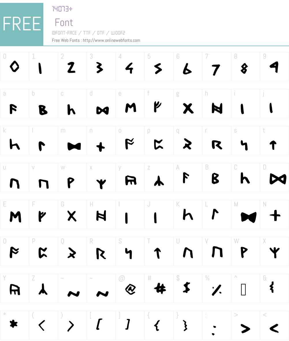 DwarfRunes Font Screenshots
