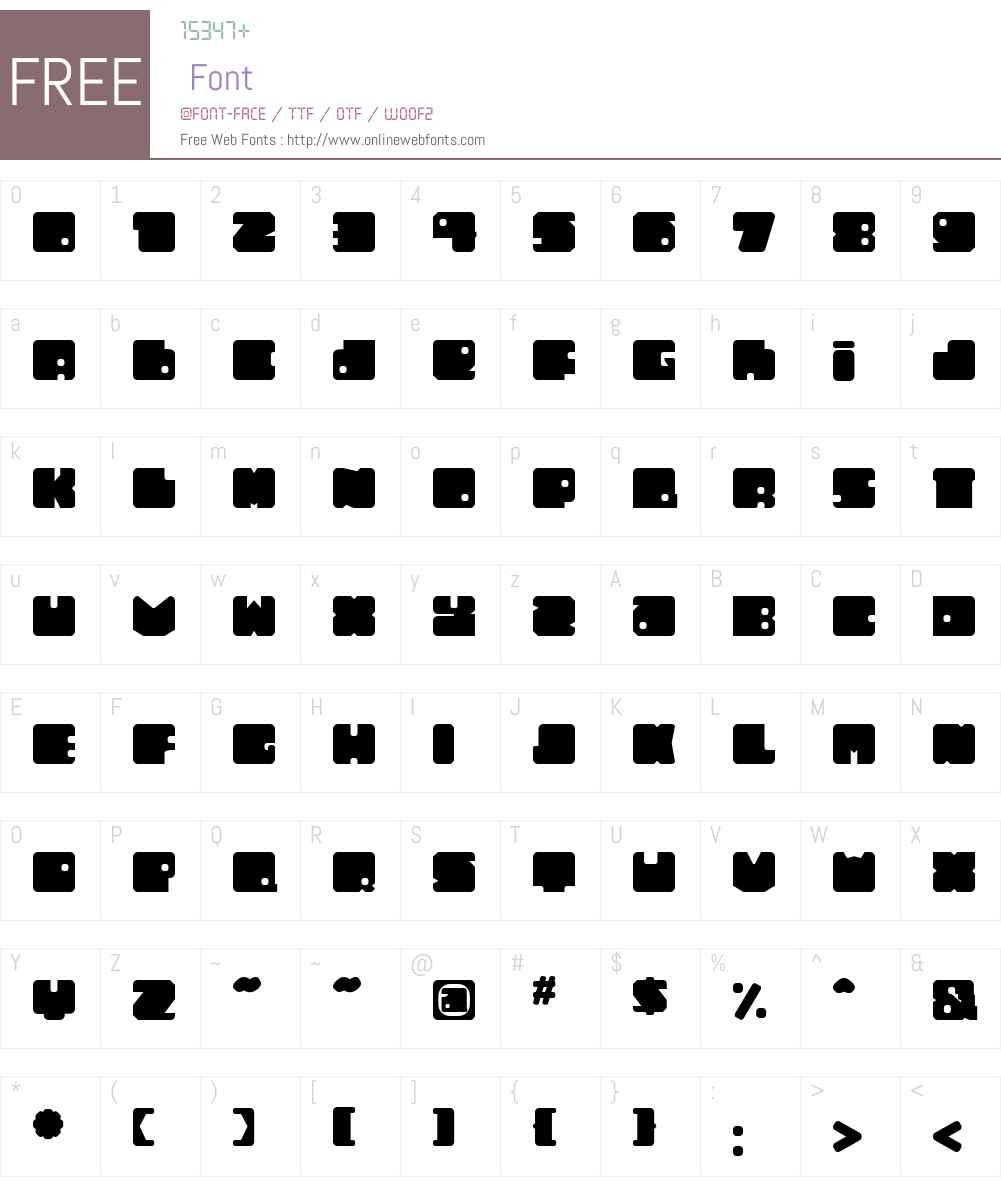 TonalW00 Font Screenshots