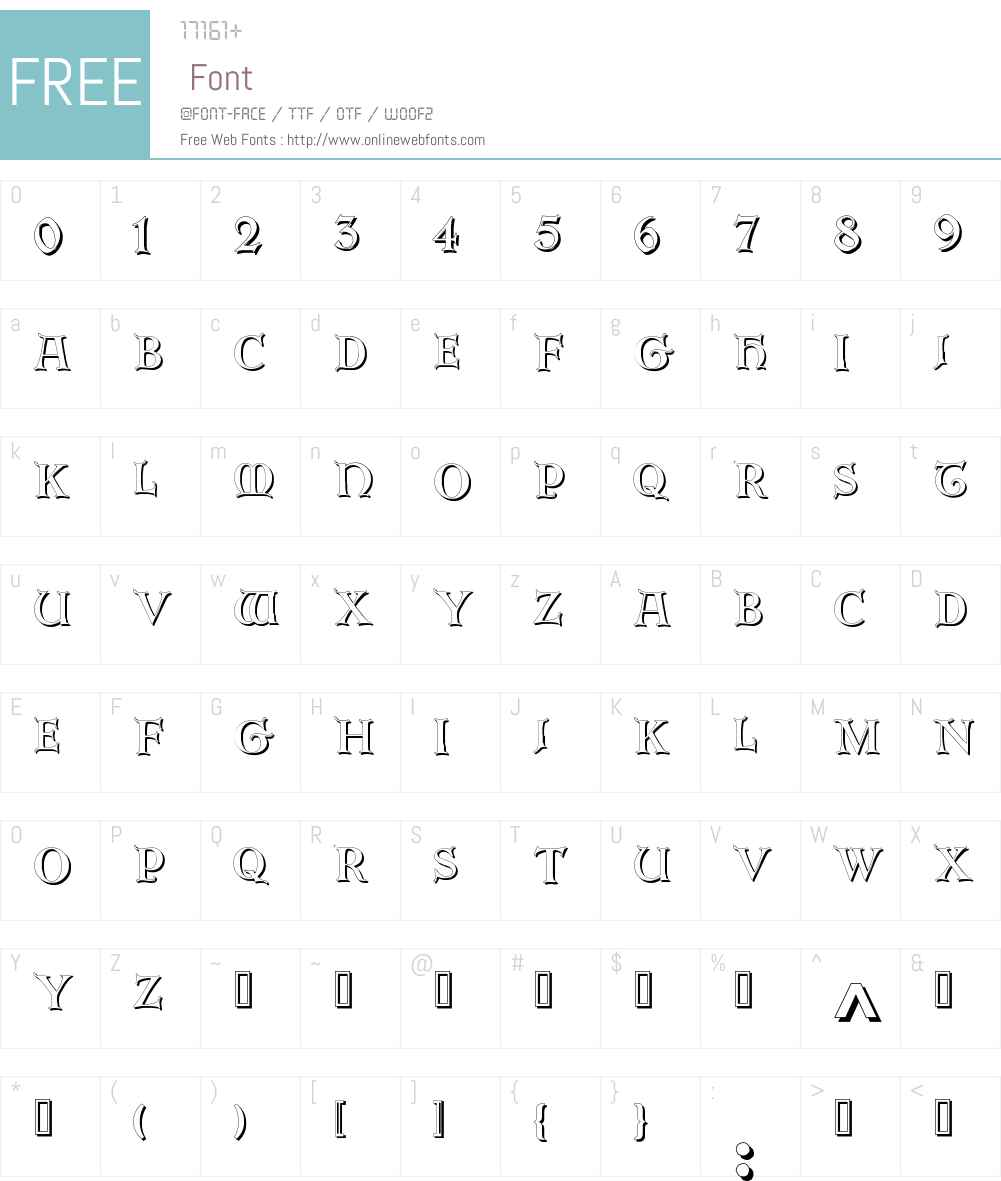 Erbar Initialen Shadow Font Screenshots