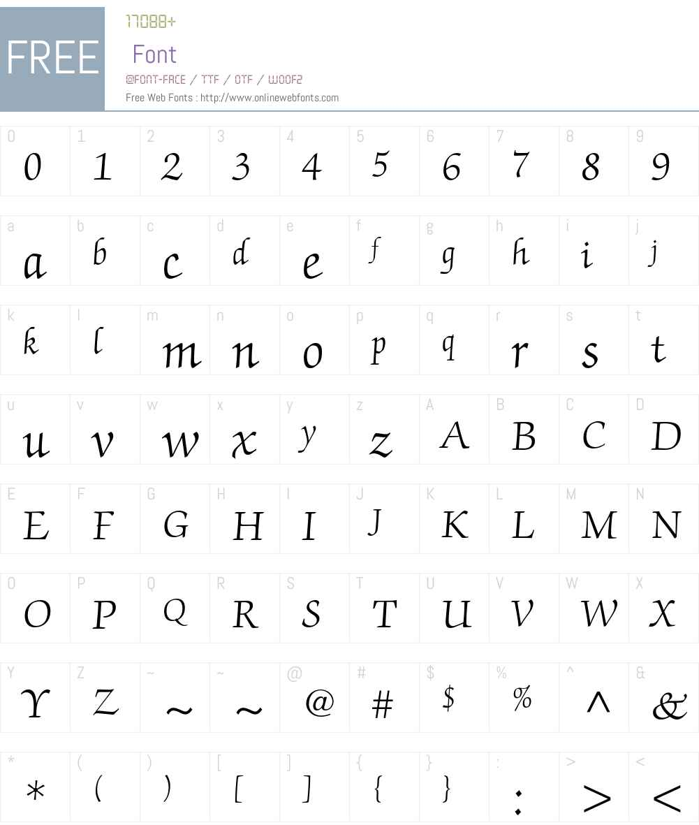 ITC Zapf Chancery Font Screenshots
