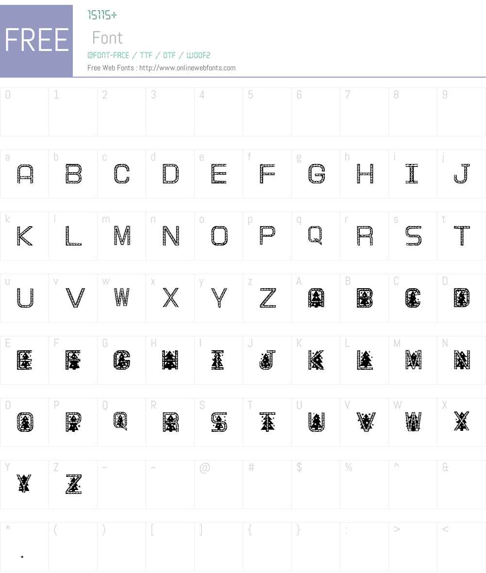 XmasTree II Font Screenshots
