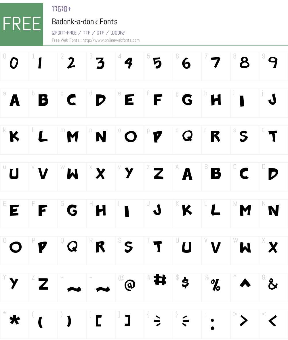 Badonk-a-donk Font Screenshots