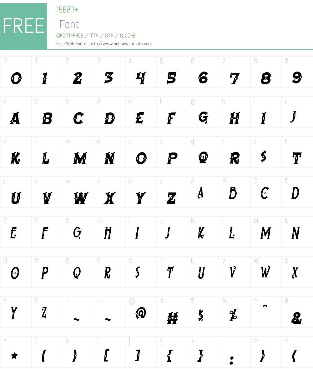 BeardedLady BB Font Screenshots