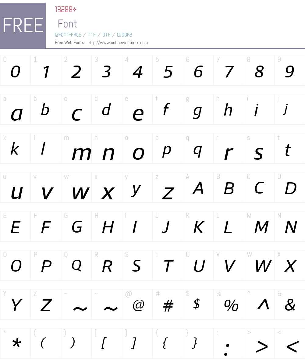 QuboW01-Italic Font Screenshots