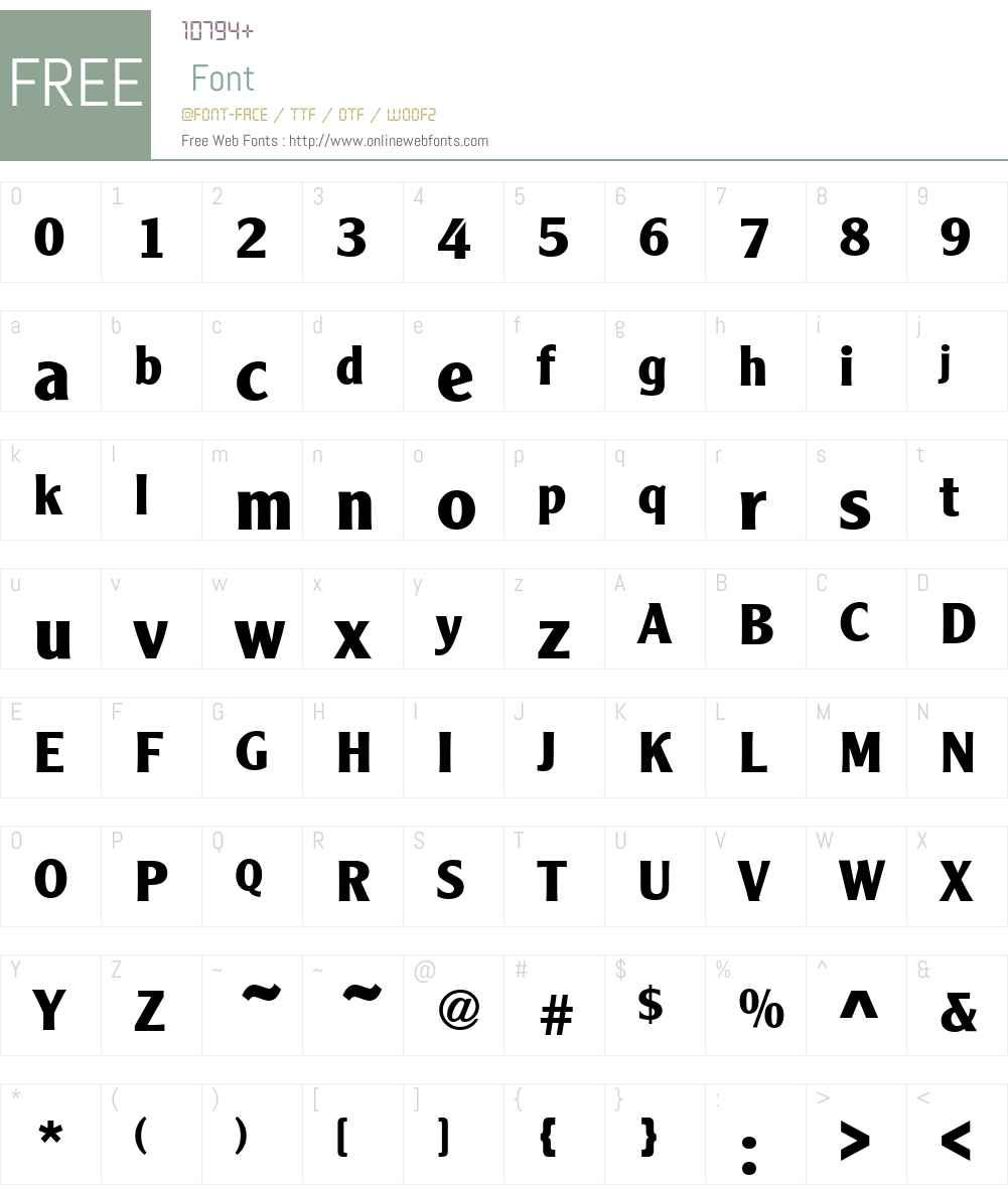 Cleargothic Font Screenshots