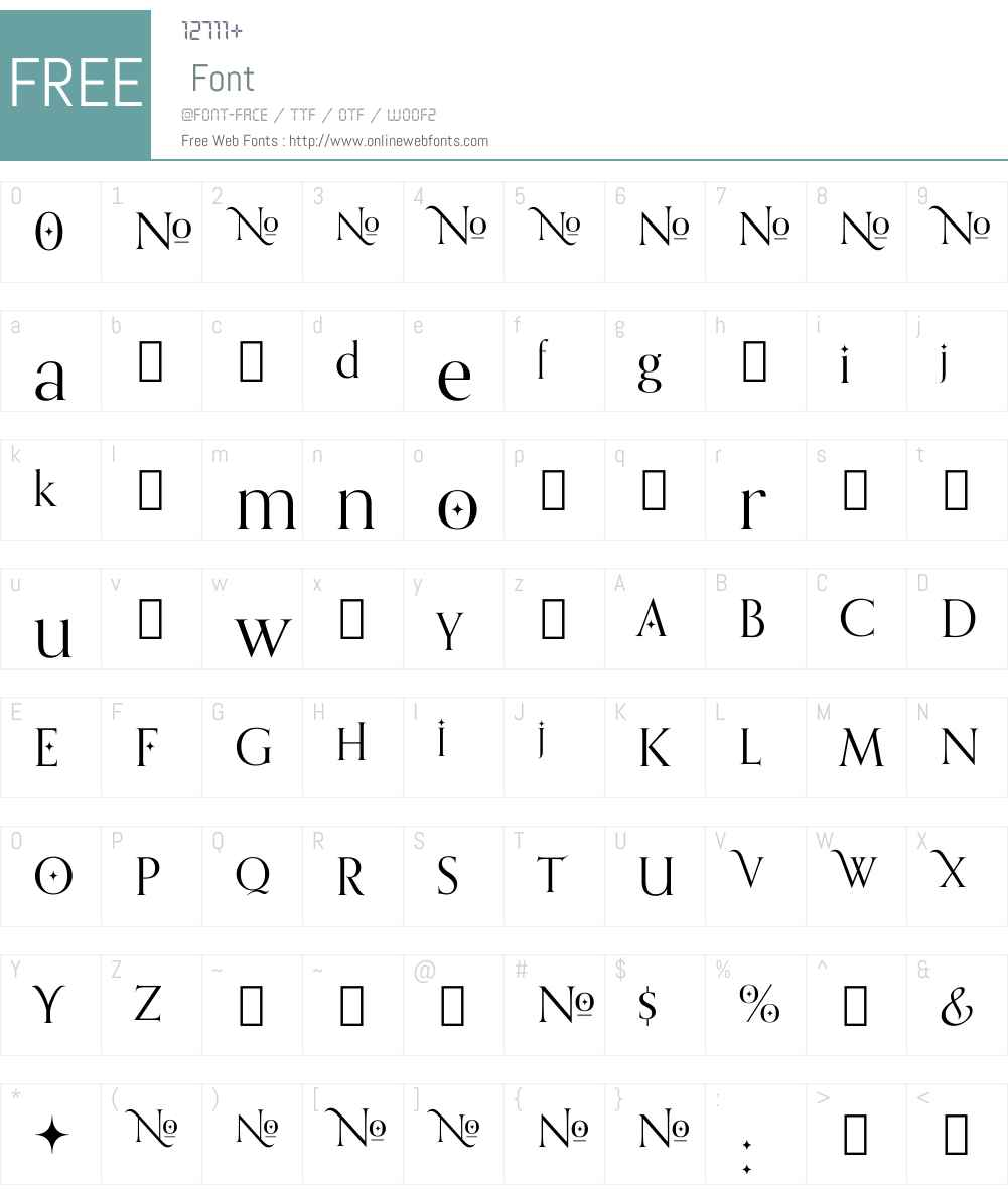 Orpheus Font Screenshots