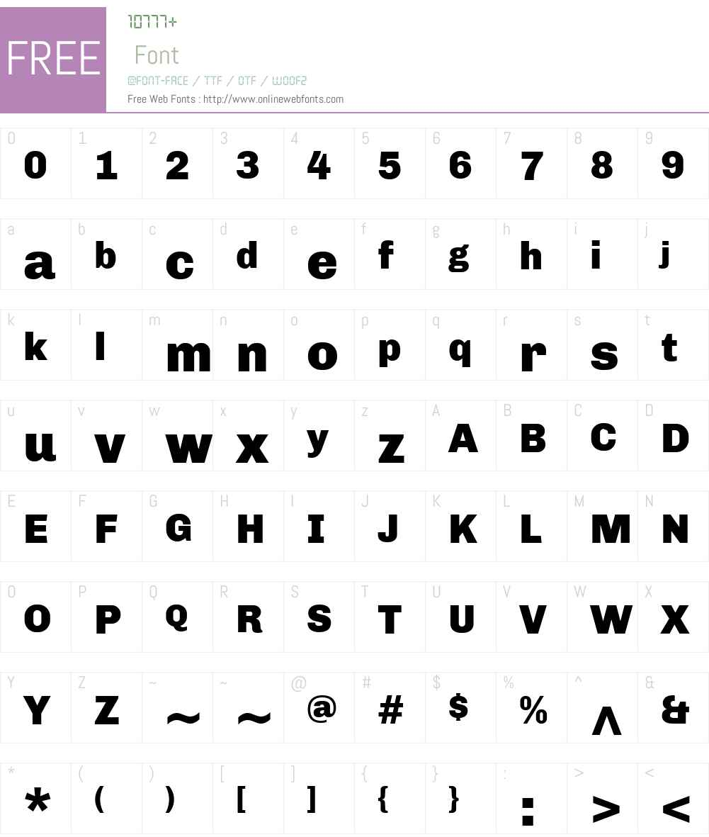 Chivo Font Screenshots