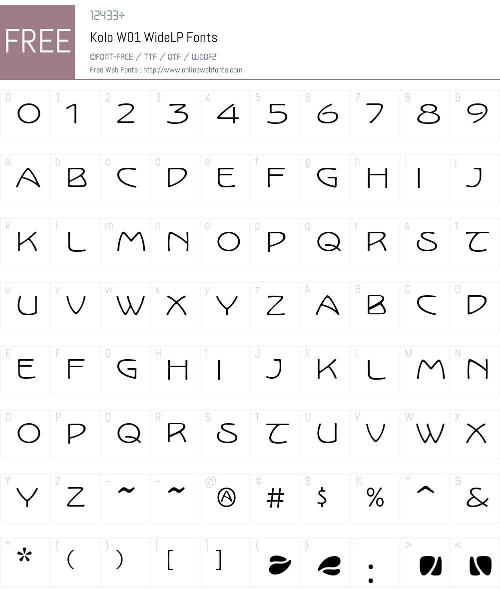 KoloW01-WideLP Font Screenshots