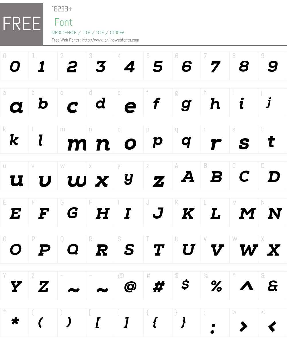 NexaSlabW01-HeavyItalic Font Screenshots