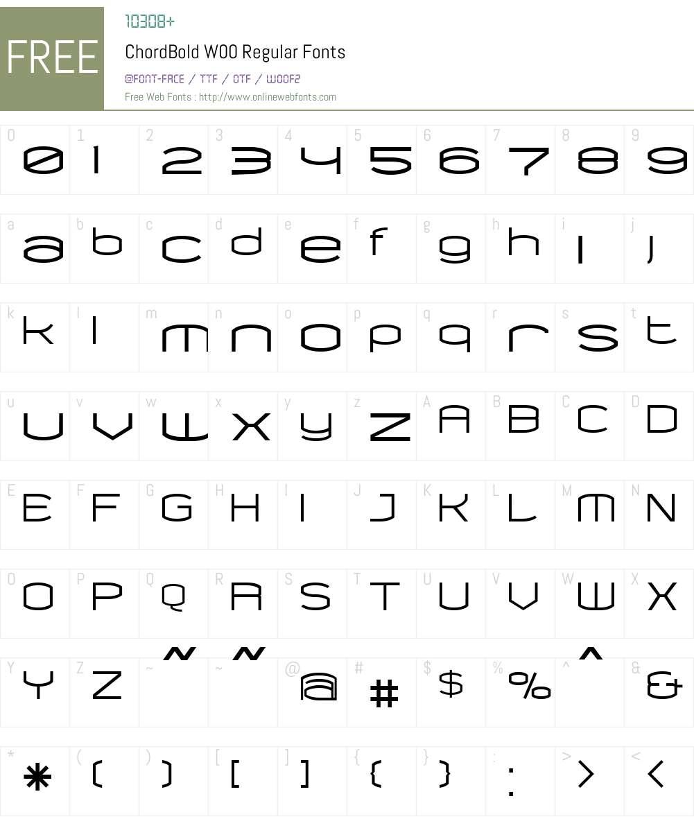 ChordBold Font Screenshots
