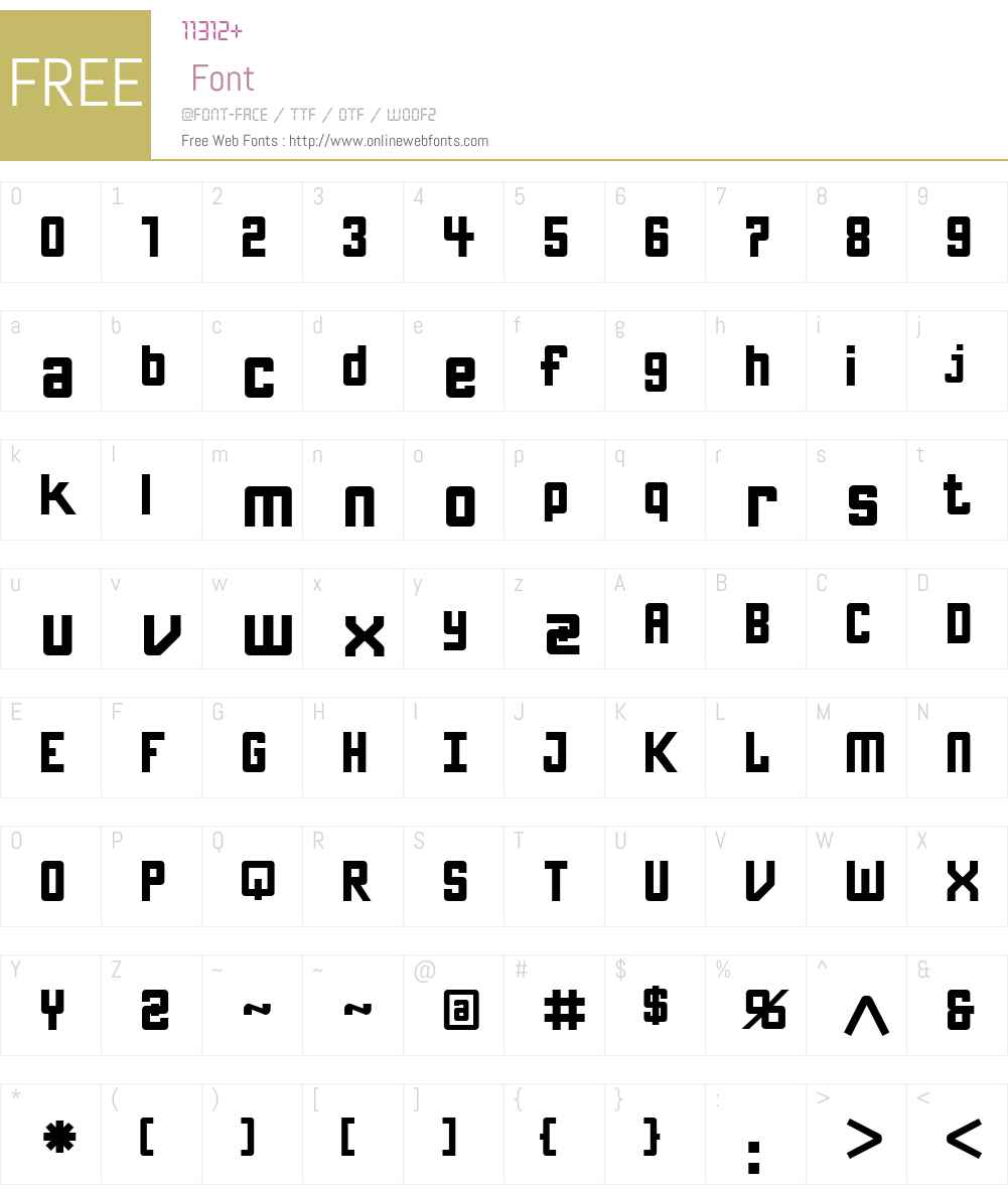 KamaroW00-ArtShort Font Screenshots