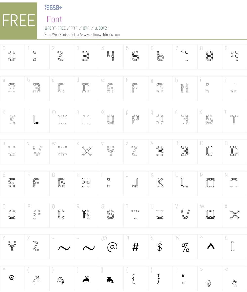 WaterWorksCaps Font Screenshots